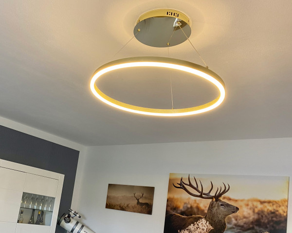 Ring-Pendelleuchte LED - s.LUCE pro Ring M (60cm) Gold - Dimmbar