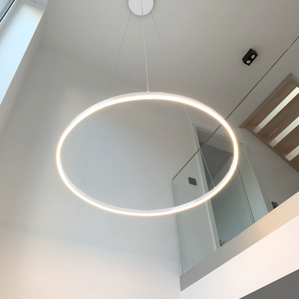 Ring-Pendelleuchte LED - s.LUCE pro Ring XL (100cm) Weiß - Dimmbar