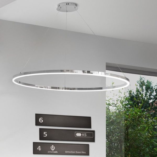 Ring-Pendelleuchte LED - s.LUCE pro Ring XL (100cm) Chrom - Dimmbar