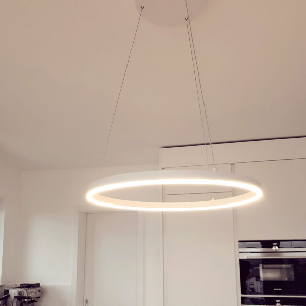 Ring-Pendelleuchte LED - s.LUCE pro Ring M (60cm) Weiß - Dimmbar