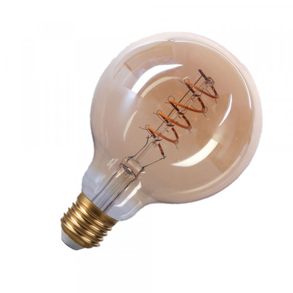 LED E27 Filament EDISON RETRO G95 Lampe (warmweiß) 4Watt 240lm