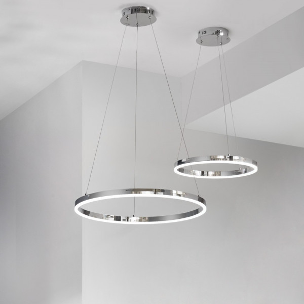 Ring-Pendelleuchte LED - s.LUCE pro Ring M (60cm) Chrom - Dimmbar